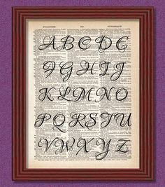 Your Fancy Monogram Dictionary Art Print by TinyHousePrints