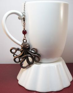 Jules Verne Inspired Octopus Tea Infuser Charm. by CamilleLaLune