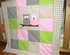 """Babydecken - Babydecke """"Eulenliebe"""" mit Namen - ein Designerstück von Kleinigkeiten-mit-Herz bei DaWanda"""
