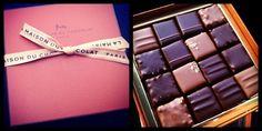 Total pleasure. La Maison du chocolate. Love! Chocolate Boxes, Chocolate Brands, Chocolate Sweets, Chocolate Shop, Box Packaging, Packaging Design, Old Ads, Eat Right, Vintage Ads