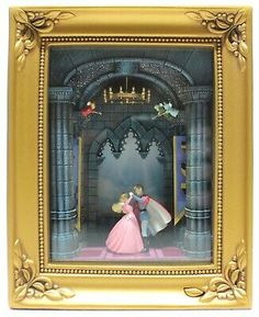 This Olszewski Gallery of Light Box features Aurora and Price Charming dancing and the good fairies watching from above. This collectable box lights up and is approx. Batteries not included. Disney Themed Rooms, Disney Rooms, Disney Parks, Walt Disney, Disney Snowglobes, Disney Enchanted, Quinceanera Themes, At Home Movie Theater, Nook Ideas