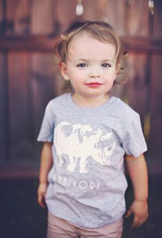 SALE Herbivore Rhino - Toddler Kids Child - Unisex Tshirt Vegan Vegetarian *Ready To Ship* $15