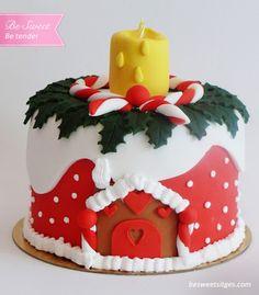 Pastel de Navidad en fondant ~ Be Sweet: reposteria creativa