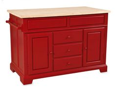 red kitchen island | Mobile Kitchen Islands - Ideas for Moveable Kitchen Islands - Country ...