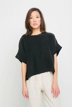 Georgia Tee in Silk Crepe