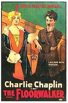the Floorwalker. (Tarkastaja) Charles Chaplin, Eric Campbell, Edna Purviance. Directed by Charles Chaplin. Mutual Film Corporation. 1916