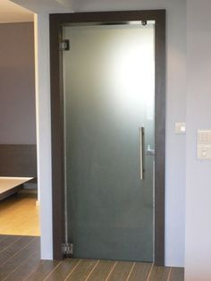 Perfect for our toilet room door!!!! Frosted glass bathroom door.