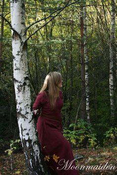 Maiden in the woods
