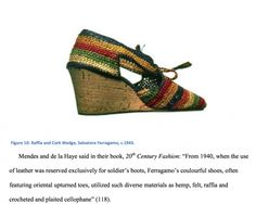 1940s ferragamo #crochet shoes