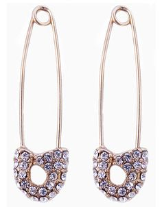 SAFETY PIN SPEAR EARRING