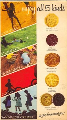 1968 Girl Scout Cookies....sold so many boxes of these when they were 50 cents a box!