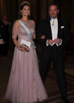 Princess Madeleine & Chris O'Neill at the dinner for Nobel Laureates tonight