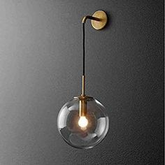 Nordic Modern LED Wall Lamp Glass Ball Bathroom Mirror Beside American Retro Wall Light Sconce Wandlamp Aplique Murale Led Wall Lights, Wall Mounted Bedside Lamp, Wall Lights, Led Wall Lamp, Light Fixtures, Bedroom Mirror, Wall Mounted Light, Industrial Light Fixtures, Sconce Lighting