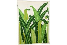 One Kings Lane - Faith Blakeney - Vintage Banana Leaf Vinyl Wall Mural Jungle Decorations, Palm Leaf Wallpaper, Wall Treatments, Home Decor Inspiration, All Art, Cactus Plants, Color Patterns, Green Colors, Wall Murals