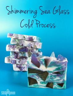 Shimmering Sea Glass Cold Process Soap Tutorial - Soap Queen