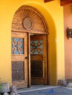 Front door at Thermas (natural hot springs), Papallata, Ecuador