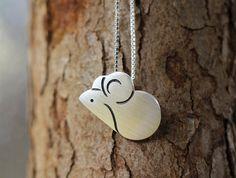 Handmade Silver Mouse Pendant, Silver 990 Lovely Mouse Pendant, Anniversary, Birthday, Christmas, Gift #handmade #etsyretwt