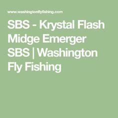 SBS - Krystal Flash Midge Emerger SBS | Washington Fly Fishing