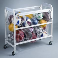 sport equipment storage cart
