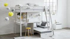 Sofa Convertible, Laque, Loft, Bons Plans, Furniture, Home Decor, Products, Mezzanine Bed, Storage Trunk