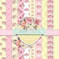 Shabby Sunshine Instant Download Digital Paper by puddingpapers, $4.60