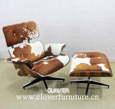 Charles Eames Lounge Chair Rindsleder