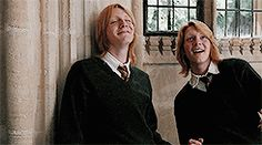 Fred and George giving Ron a hard time (as always)