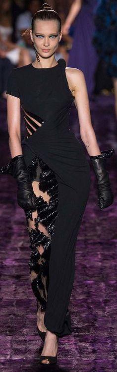 Atelier Versace Fall 2014 Couture correntes ao invés da renda na perna