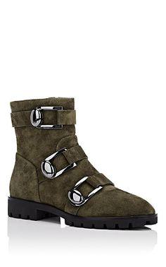 baf1171a801a Stella Luna Women s Suede Ankle Boots-Dk. Green