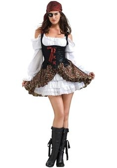 Buccaneer Beauty Costume, Secret Wishes - Pirate at Escapade™ UK