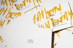 business cards // Personal Branding by Anthony Wyborny , via Behance