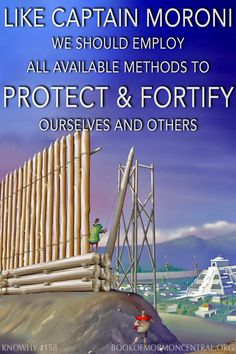 Similar to Moroni's fortifications, features of ancient fortifications documented between 300 BC to AD 250 include: (1) earthen barriers and occasionally even stone walls; (2) a ditch or moat; (3) wooden palisade; (4) isolated guard posts, and towers from which stones and other projectiles could be launched at invaders.  https://knowhy.bookofmormoncentral.org/content/what-was-the-nature-of-nephite-fortifications #Fortifications #Protection #Archaeology #BookofMormon #Mormon #LDS #Faith…