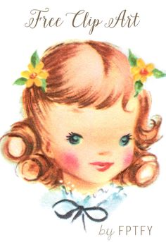 Images: Lovely Vintage Girl Face - Free Pretty Things For You