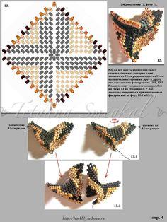 Beading star - 5/7 - beading Peyote Stitch tutorial.