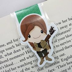 Katniss Everdeen Inspired Magnetic Bookmark The by JLynnPaperCo