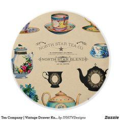 Tea Company | Vintage Drawer Knobs Pulls Dresser Refinish, Dresser Desk, Vintage Drawers, Art Drawings Beautiful, Drawer Knobs, Drawer Pulls, Rustic Gifts, Tea Companies, Tea Tins