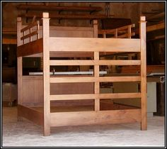 Queen Loft Bed Plans DIY This loft bed is a sturdy elevated
