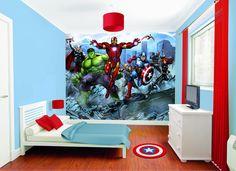 marvel wall mural para comics avengers decals cuarto desde kidsbedroomideas guardado juegos hombre