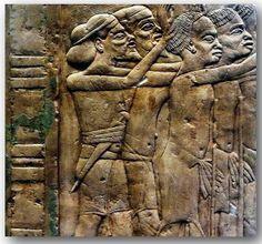 Scene from the tomb of Horemheb, Saqqara- Tribute to Tutankhamun