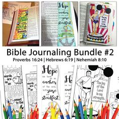 Bible Journaling Bible Verse Art Bible Verse Print great for faith journals Art Journals Bundle 2 Proverbs Hebrews Nehemiah by SewBitandCo on Etsy Proverbs 16 24, Isaiah 40 31, Words Of Hope, Bible Verse Art, Adult Coloring Pages, Sticker Paper, Journaling, Things To Sell
