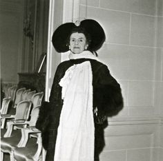 """Photograph by Maywald of the Countess Greffülhe at the House of Dior in 1952. (the year of her death). Although she claimed that she knew Marcel Proust only slightly (which in fact was not true) she was undeniably a major character in his monumental work, """"A Remembrance of Things Past"""""""