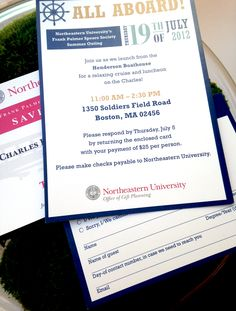 Frank Palmer Speare Society Summer Outing Invitations #Northeastern