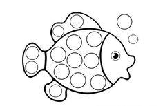 Preschool Rainbow Fish Coloring Sheet To Print For Free
