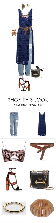 """""""couro e jeans / o amor é assim"""" by nandusho ❤ liked on Polyvore featuring River Island, Proenza Schouler, Salvatore Ferragamo, Isabel Marant, Tom Ford, Louis Vuitton, Prada, Gucci, Marni and crochet"""