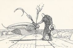Much pruning had taken place in recent weeks. I am now absent in many... - but does it float -- Art by Moebius (Jean Giraud)