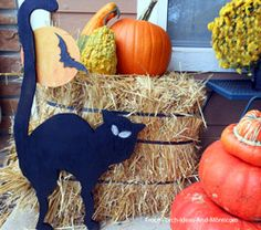 dollar general deco ideas | halloween black cat decoration