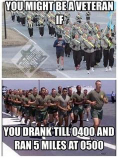Holy Shit do I Remember. Having to run rear guard a puking my guts out. Those were the days! Army Humor, Military Humor, Military Life, Usmc, Marines, Marine Corps Humor, Military Quotes, Warrior Quotes, Military Veterans
