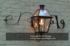 french quarter lantern on a yoke bracket copper lights. Black Bedroom Furniture Sets. Home Design Ideas