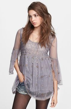 Free People 'Purple Moon' Embellished Tunic available at #Nordstrom