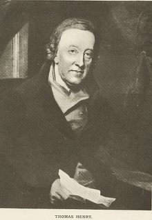 Thomas Henry (26 October 1734 – 18 June 1816) was a surgeon and apothecary.[1] He was also a Fellow of the Royal Society of England. He was also the father of William Henry, the chemist that formulated Henry's Law.